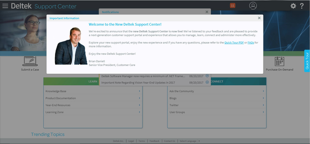 All About the New Support Center